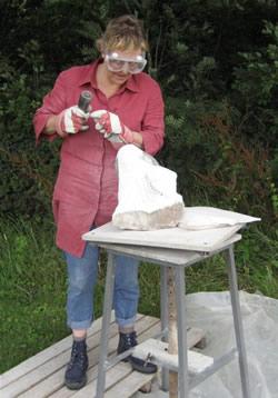Liselotte beeldhouwen
